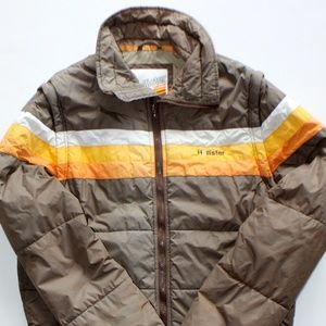 Hollister California Retro Puffer Jacket Vest LG